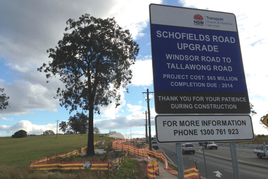SCHOFIELDS ROAD UPGRADE – STAGE 1